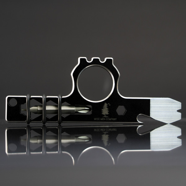 Wise Guy Pocket Tool in Black with polished chamfers