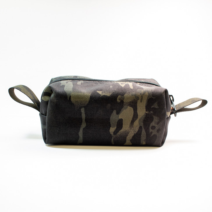 Medium size storage bag in multi-cam black is perfect for organization and storage.