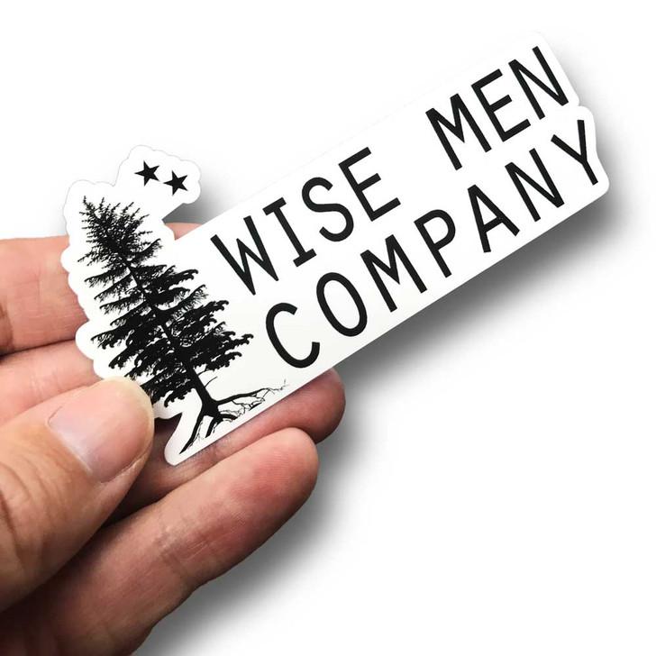 Wise Men Company Die Cut Horizontal Logo Sticker