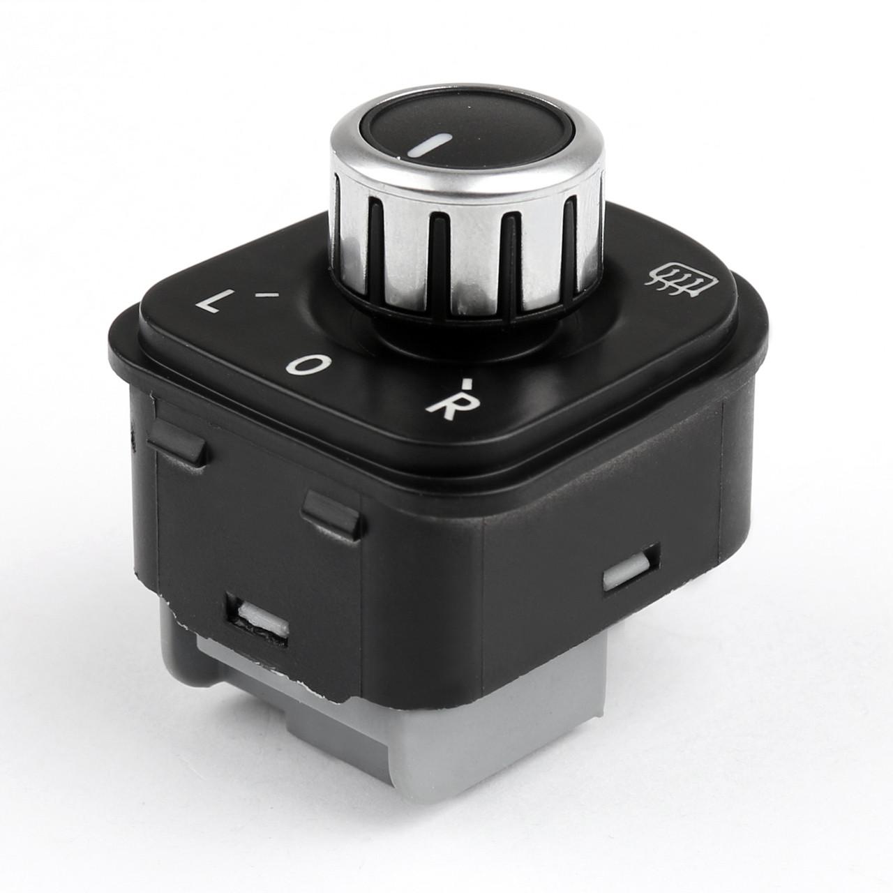Side Mirror Switch Knob W/ Heat Function for VW Jetta MK5 Golf Mk6 Passat,  Chrome
