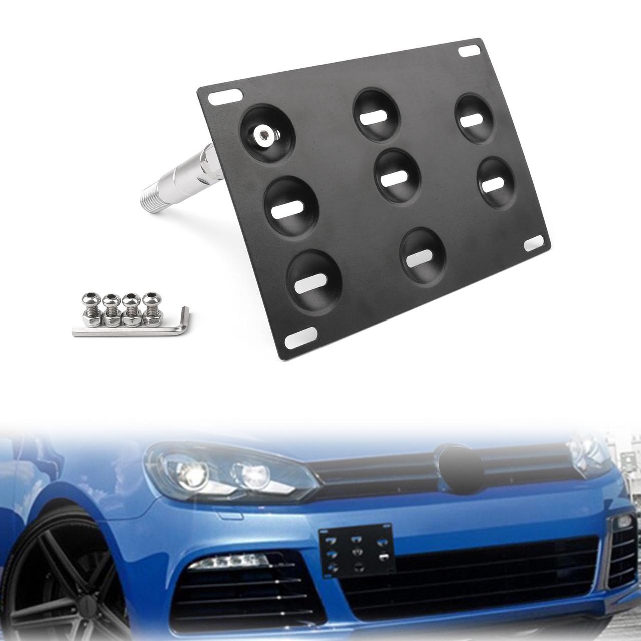 EOS For 10-14 Volkswagen GTI MK6 Front Tow Hook License Plate Mount Bracket