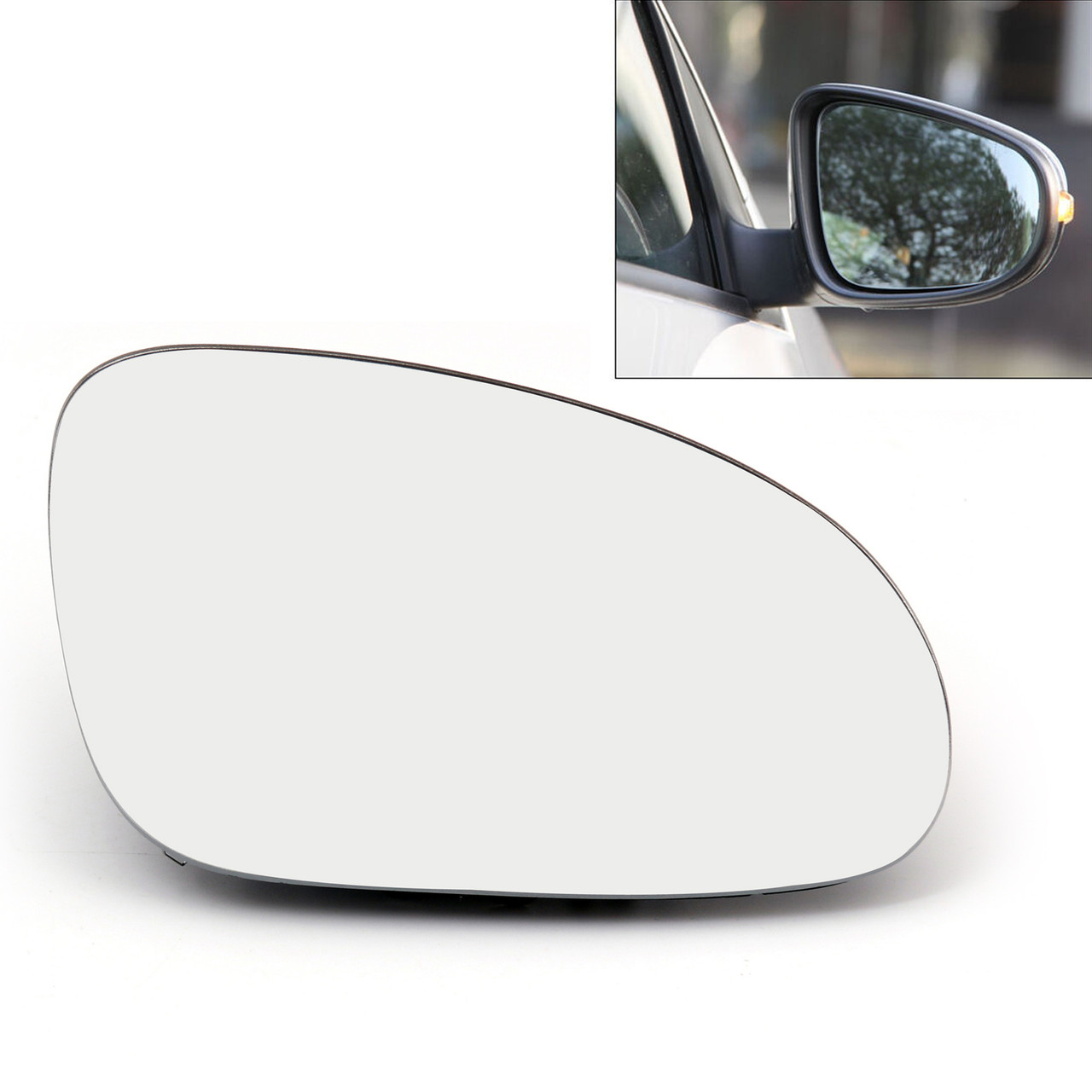 1x Passenger Side Mirror Cover Housing Case Cap For 07-10 VW Jetta MK5 Passat B6