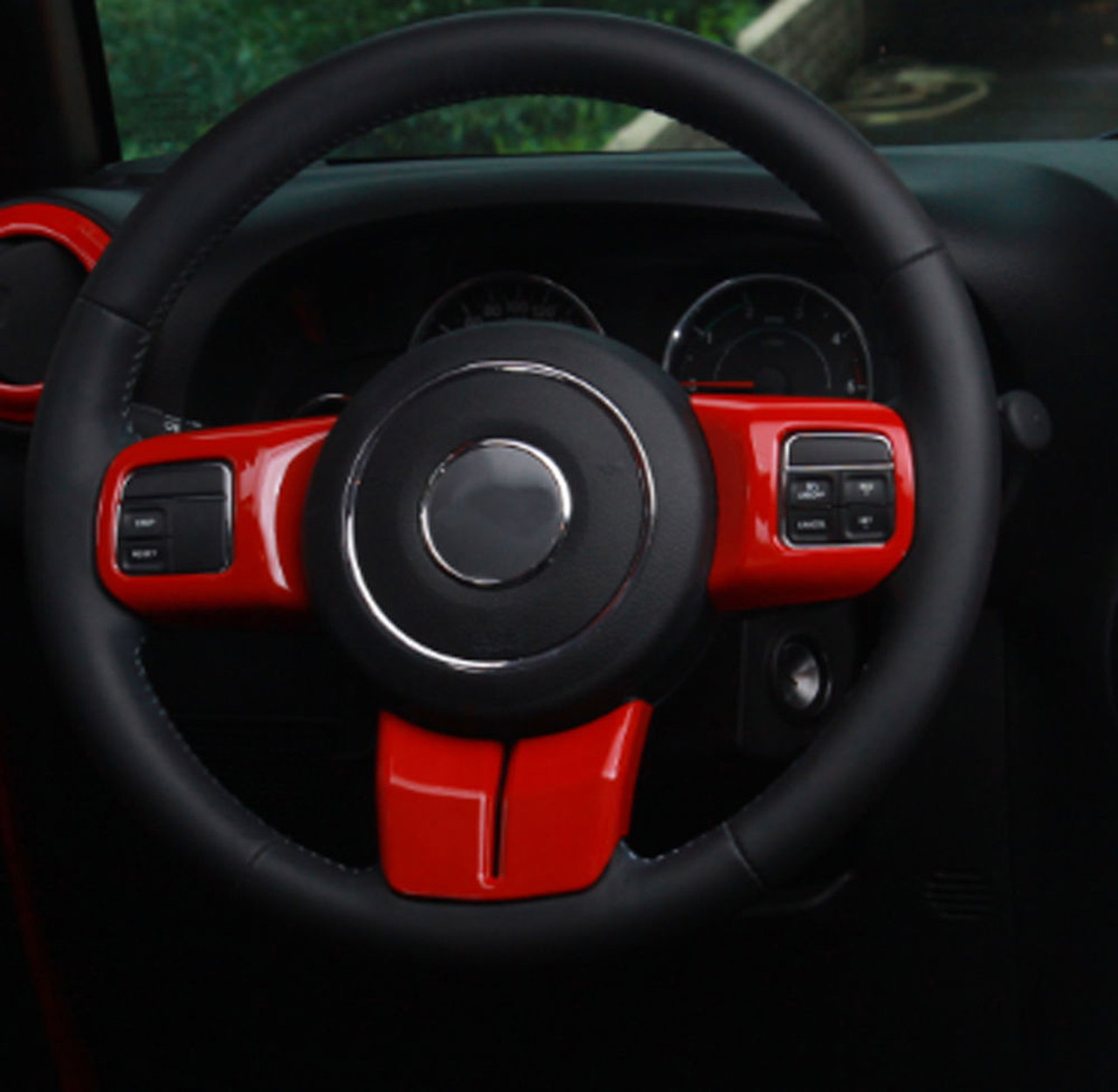 Red Emergency Light Switch Cover Trim for 2011-2016 Jeep JK Wrangler Unlimited c