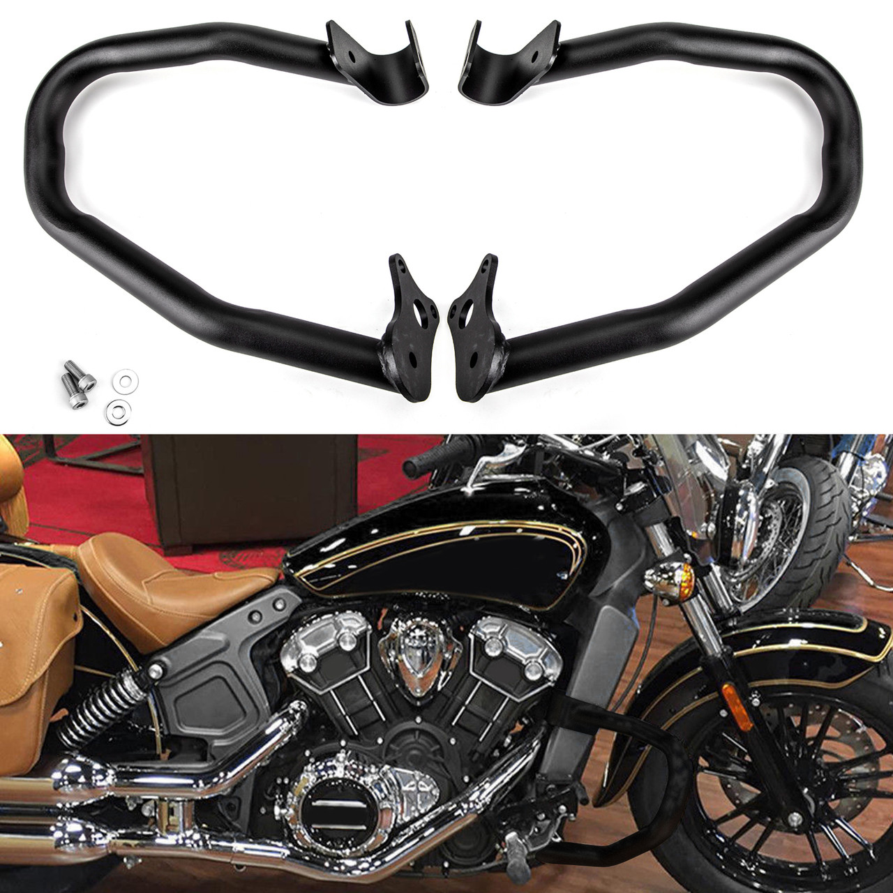 For Indian Scout 2015-2018 Engine Guard Highway Crash Bar Protection Kit 1 Pair