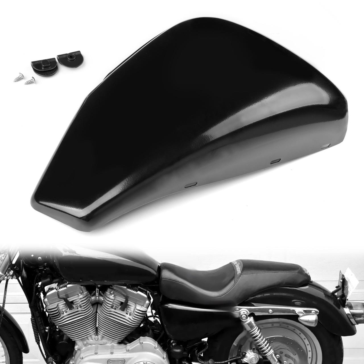 Black Motor Left Side Battery Cover for Harley Sportster XL883 2014-2018