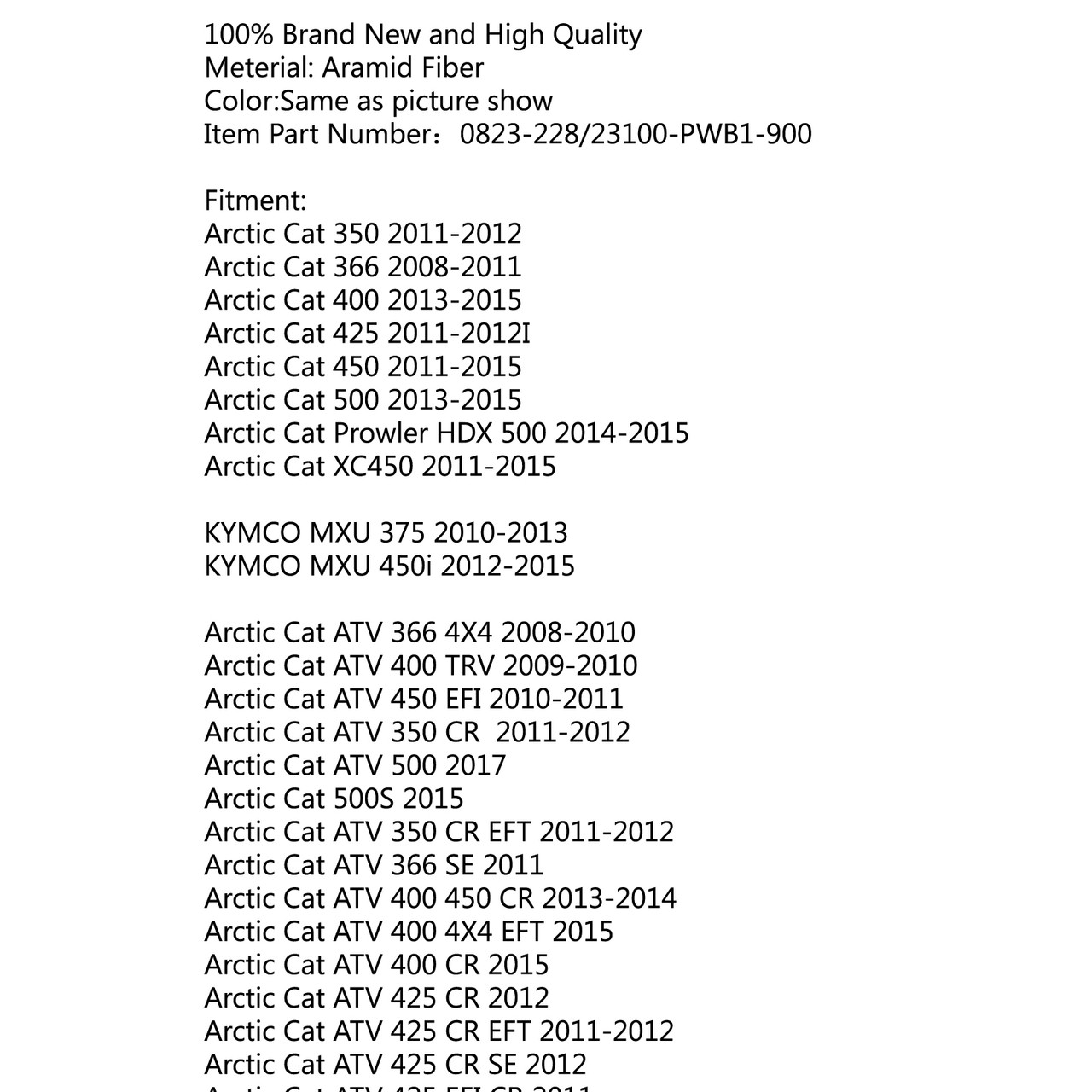 366 SE 2011 366 2008 STATOR Fits ARCTIC CAT 350 CR 2012
