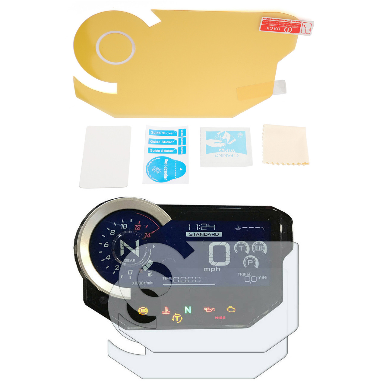 Motorcycle Dashboard Tachometer Speedometer Film Sticker For Ducati Diavel 11-17