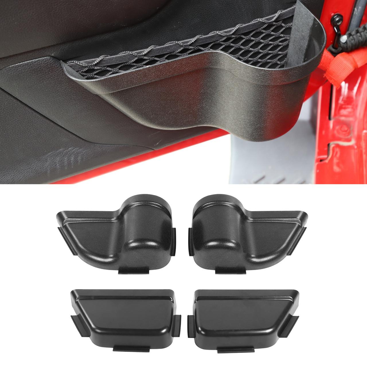 ABS Plastic 4Pcs 4-Door Net Pocket Storage Box For Jeep Wrangler JK 11-17 Parts