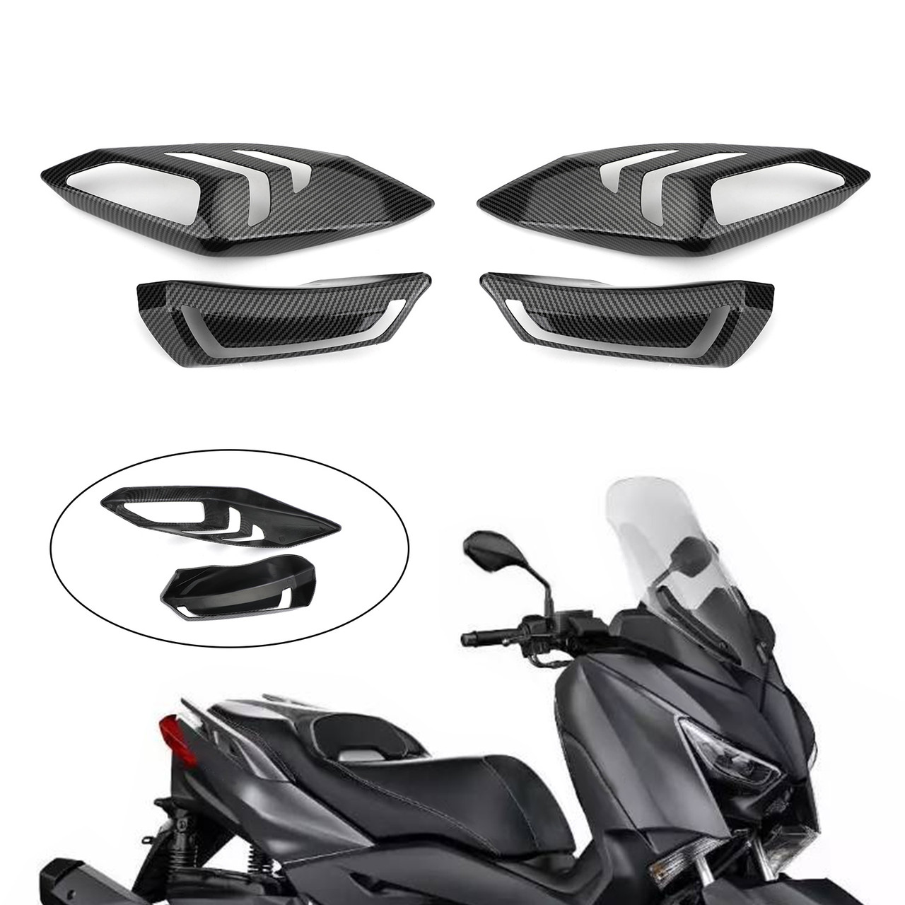 CENTER CONSOLE CARBON FOR YAMAHA XMAX 300