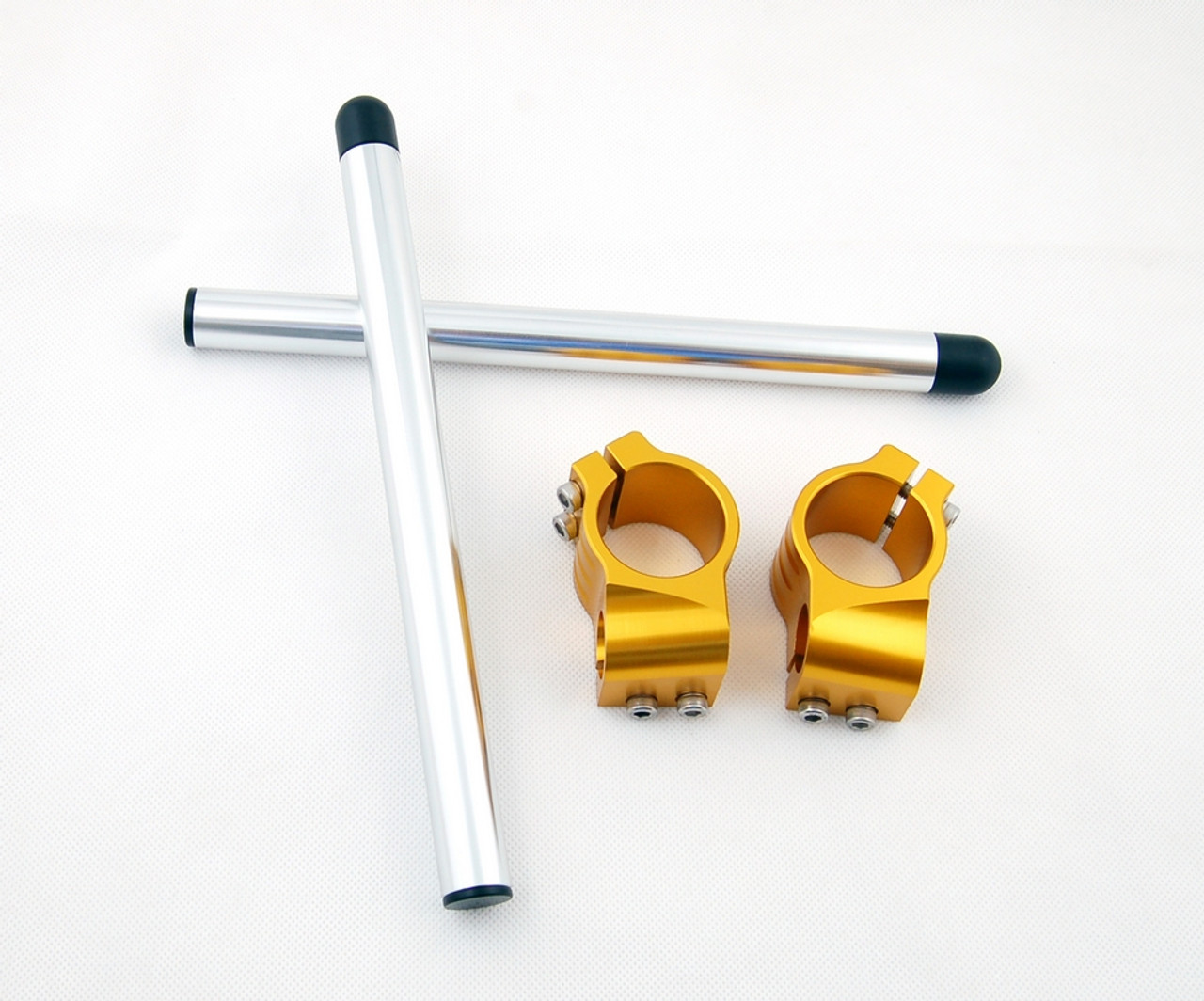 Clip-On 43MM Racer Handlebars Buell M2L Cyclone (2002), M2 Cyclone  (1997-2002), Gold