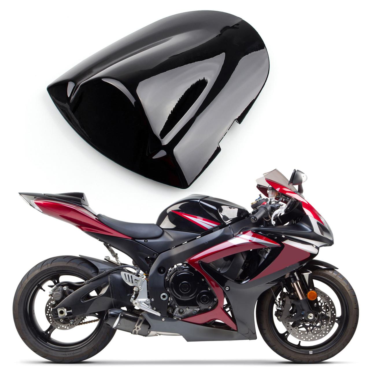 Black Front Seat Rider Driver Pad Cushion For SUZUKI GSXR600 GSX-R 750 2006-2007