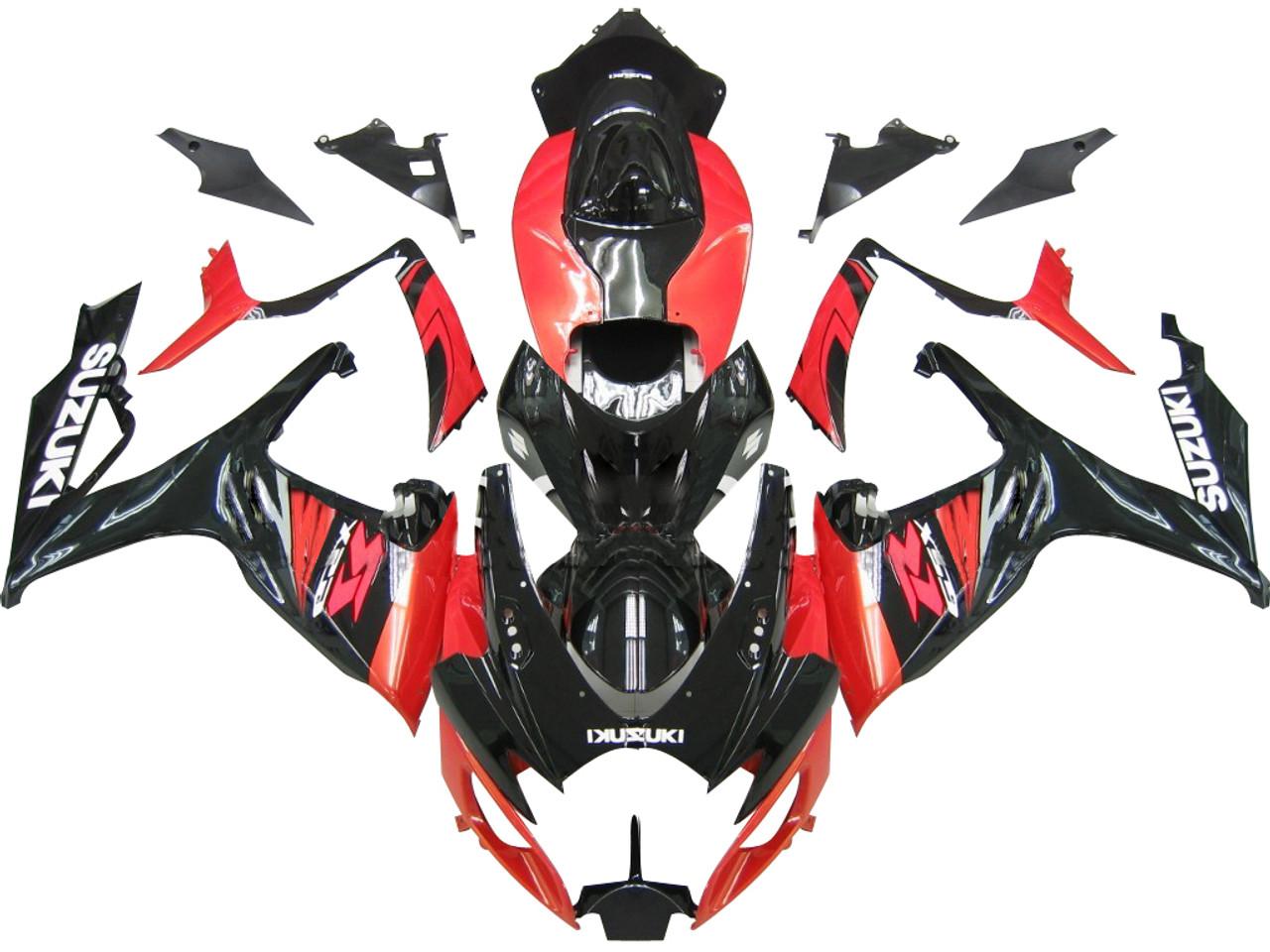 Fairings Suzuki Gsxr 600 750 Black Red Racing 2006 2007 Timing Belt 07