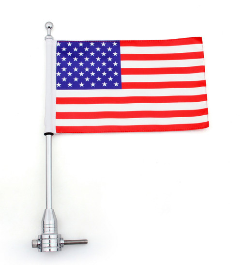 Flag Pole Mount Luggage Rack Vertical USA Harley-Davidson Touring Road King Glide & FLHT
