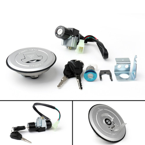 Ignition Switch Fuel Gas Cap Key Lock Set For Honda MSX125 GROM125 AC (2014-2015)