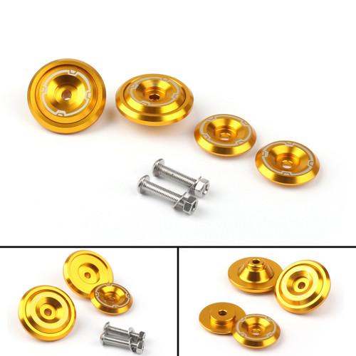 CNC Frame Hole Cover Page Hole Cap Cover Plug Bolt Kit For Kawasaki Z900 (2017) Gold