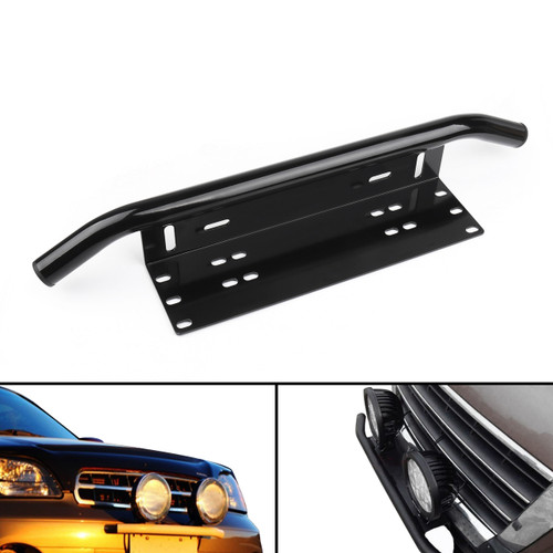 Bull Bar Front Bumper License Plate Bracket Off-Road Lights Mount Holder