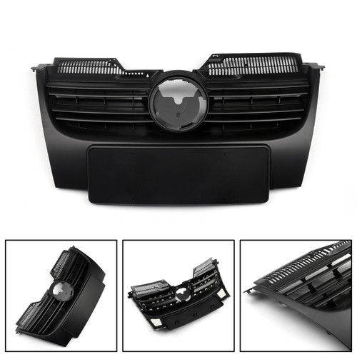 New Black Front Upper Bumper Grille For 06-09 VW Jetta MK5  Black