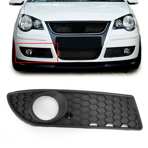 Front Center Lower Bumper Grille Fog Grill For VW Polo 9N3 GTI (2005-2009)