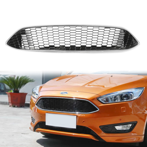 Front Bumper Grille For Ford Focus (2015-2016) Chrome