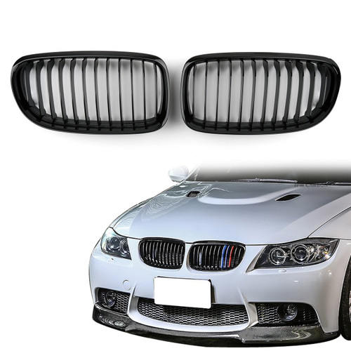 Kidney Grille BMW E90 E91 LCI 3 Series Sedan Wagon 4 Door (2008-2012) Gloss Black