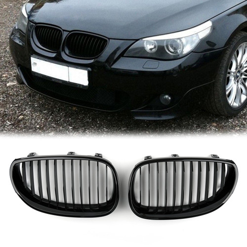 Kidney Grille BMW E60 E61 5 Series (2003-2010) Gloss Black
