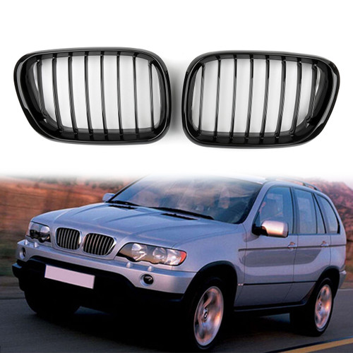 Kidney Grille BMW E53 X5 Series (1998-2003) Gloss Black