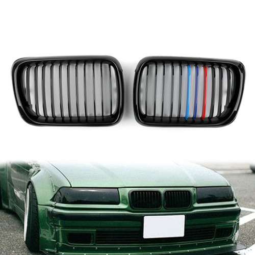 Kidney Grille M Color BMW E36 3 Series (1997-1999) Gloss Black