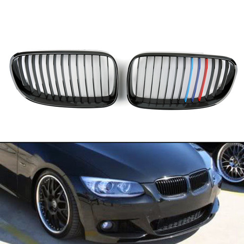 Kidney Grille BMW E92 E93 LCI 3 Series Coupe 2 Door (2011-2014) M Color Gloss Black