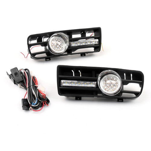 2x Fog Light 5 LED Front Bumper Grille DRL Lamp VW Golf MK4 GTI TDI (99-04)