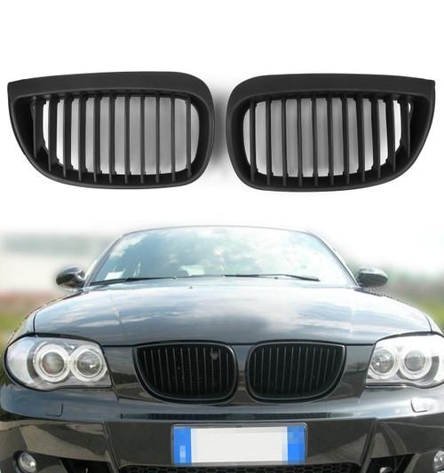 Kidney Grille Grill BMW E81 E87 Sport 1 Series Hatchback (2004-2007) Matte Black