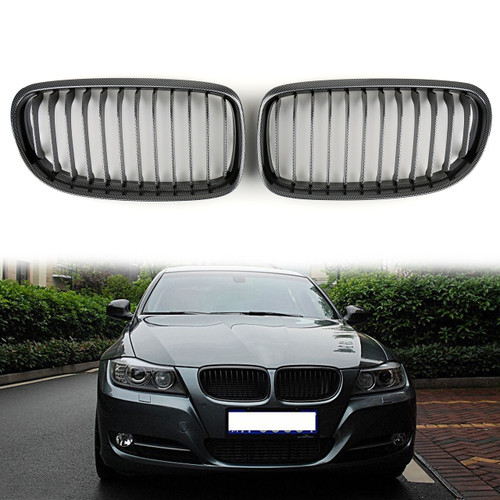 Kidney Grille BMW E90 E91 LCI 3 Series Sedan Wagon 4 Door (2008-2012) Carbon Look