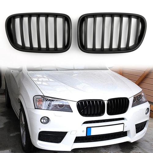 Kidney Grille BMW F25 X3 Pre-facelift Sport Kidney (2011-2013) Matte Black