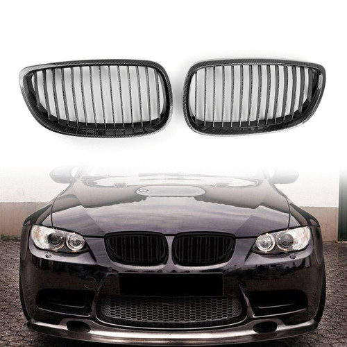 Kidney Grille Grill BMW E92 E93 3 Series Coupe 2 Door 2006/07-2013 Carbon Fiber Print