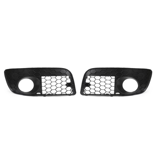 Pair Front Bumper Fog Lamp Lights Grill Grille For Volkswagen GOLF MK5 GTI (2006-2009)