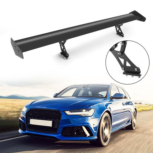 Universal Aluminum Adjustable Trunk GT Rear Racing Spoiler Wing, Black