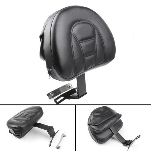 Adjustable Driver Rider Backrest Pad For Harley Fatboy Heritage Softail (07-19) Black
