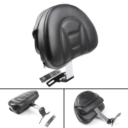 Adjustable Driver Rider Backrest Pad For Harley Fatboy Heritage Softail (07-19) Chrome