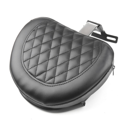 Driver Rider Backrest Pad For Harley Fatboy FLSTF Heritage Softail (07-17) Chrome