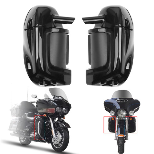 Lower Vented Leg Fairings Glove Box For Harley Touring Road Street Glide 83-13