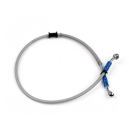 "65cm/26"" M10 Brake Oil Hose Line Banjo Fitting Stainless Steel End"