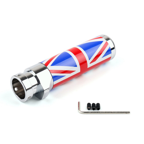 Mini Cooper Union Jack UK Flag Handle Hand Brake Emergency Cover Trim, Red Blue