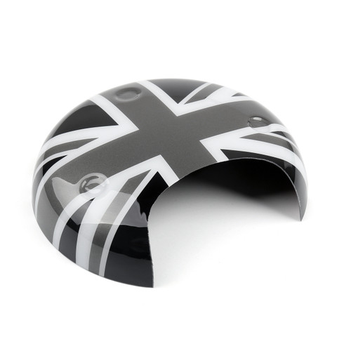 Tachometer Panel Cover MINI COOPER R55 R56 R57 R58 R59 R60 R61 Union Jack UK Flag Black Gray
