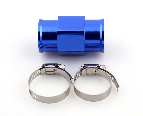 32mm Water Temp Joint Pipe Temperature Gauge Radiator Adapter Hose Sensor, Blue