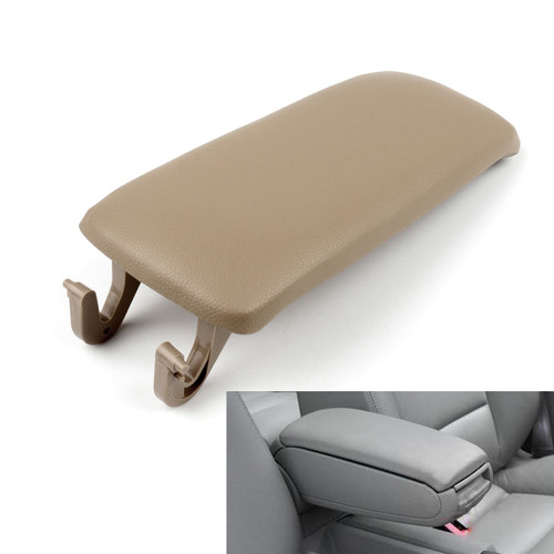 PU Leather Center Console Armrest Cover Lid Audi A4 B6 S4 A6 (2001-2006) Khaki