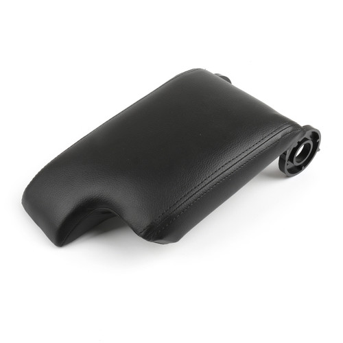Leatherette Armrest Center Console Lid Cover For BMW E46 3 Series 98-06, Black