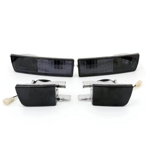 Front Smoke Lens Bumper Fog Light &Signal Lamp Kit for VW Jetta Golf MK3 (93-98) Smoke