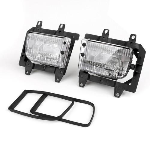 Front Bumper Fog Lights Plastic Lens Kit for BMW E30 3-Series Sedan (85-93) Clear
