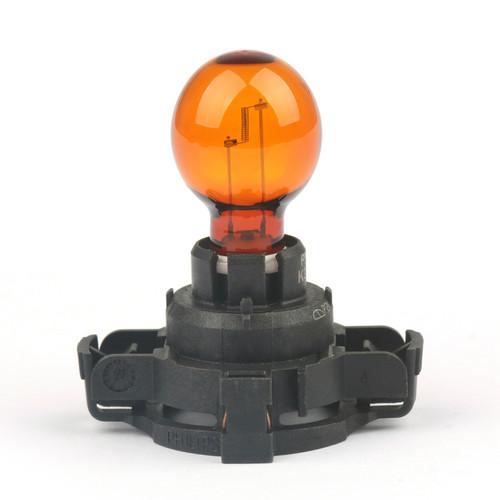 Philips Standard PY24W 12190SV 24W One Amber Bulb Turn Signal Daytime Lamp KS