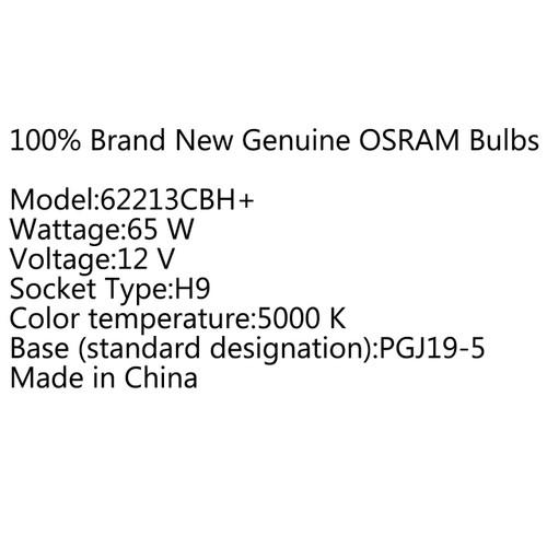2 X H9 OSRAM 5000K Cool Blue Hyper+ Plus 65W White Light Halogen Bulb Globe