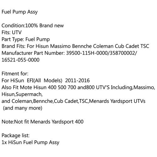 Fuel Pump For EFI MSU UTV 700 YS700 HS 400 MSU 800 UTV 500 HiSUN MASSIMO